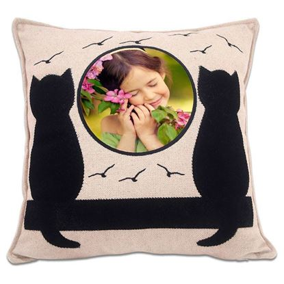 Picture of Kişiye Özel Baskılı Kedi Desenli Yastık