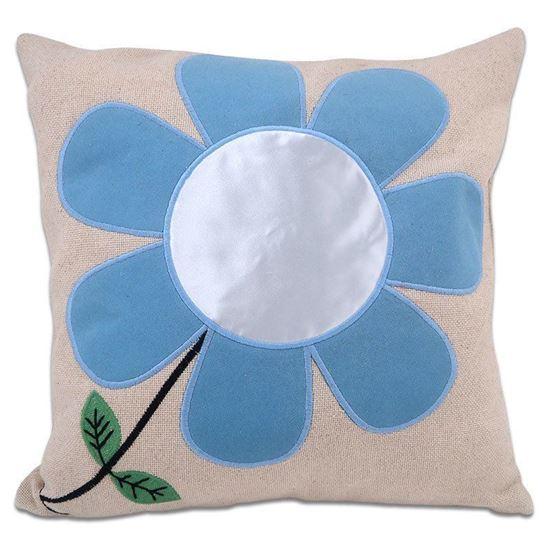 Picture of Kişiye Özel Baskılı Mavi Çiçek Desenli Yastık
