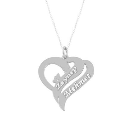 Picture of Gümüş İsimli Kolye Kalp Kolye Aşk Kolyesi